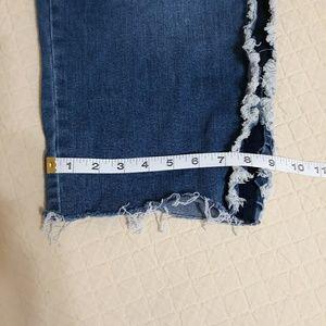 Lane Bryant Jeans - Lane Bryant cropped jeans frayed trim raw hem sz20
